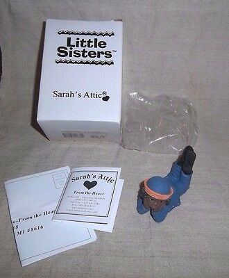 African American Black Girl Figurine Sarah's Attic Little Sisters Daydreaming