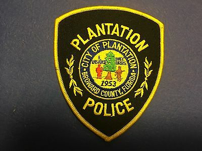 Plantation Florida  Police Shoulder Patch