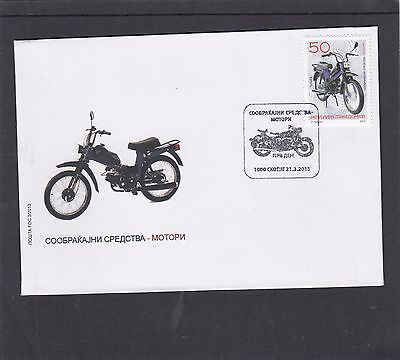 Macedonia 2013 Motorcycle FDC First Day Cover Macedonia pictorial h/s