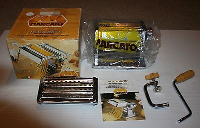 Marcato Altas 150 pasta machine with double die, booklet, super clean and nice