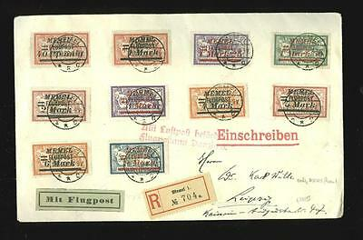 (Germany, Lithuania) Memel: 3rd airmail issue on airmail cover, scarce!