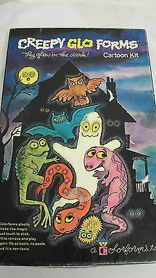 Colorforms Cartoon Kit Creepy Glo Glow  Forms Glow In The Dark