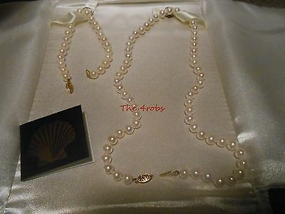 IPS 14K Gold & Cultured Pearls Necklace and Bracelet