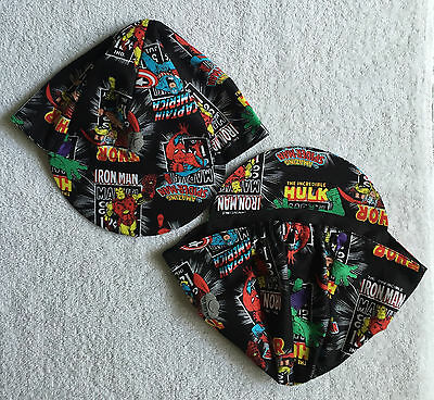 Marvel Superheroes Classic Black Team Cycling Cap New Hat ***