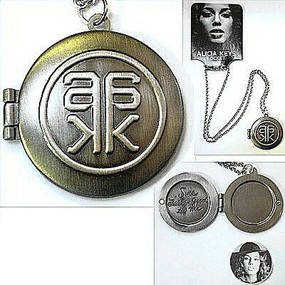 Alicia Keys Looks Good Picture Locket Necklace Rare New