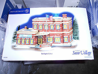 DEPT 56 SNOW VILLAGE NORTHGATE SCHOOL NIB *Still Sealed*