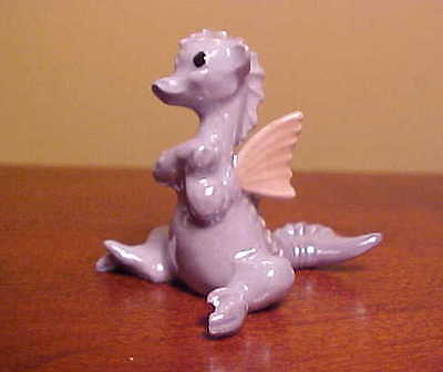 Hagen-Renaker Mini #892 BLUE DRAGON WITH WINGS ~ Miniature Ceramic Figurine