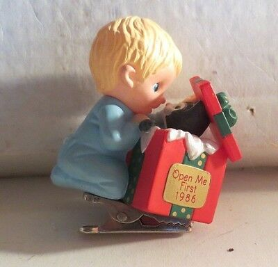 Hallmark 1986 Open Me First Christmas Ornament