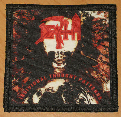 """DEATH """"INDIVIDUAL THOUGHT PATTERNS"""" silk screen PATCH"""