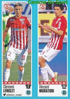 558-559 Clement Lenglet - Vincent Muratori As.nancy Sticker Foot 2017 Panini