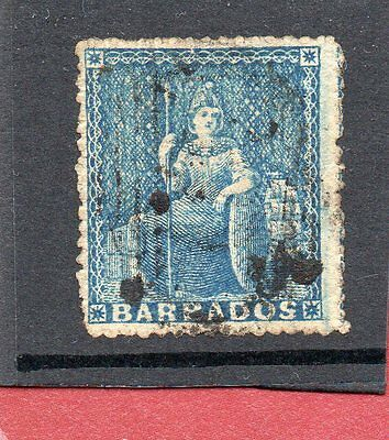 BARBADOS Vic.c.1870-72 1d sg 48 or 52 used