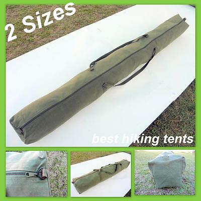 New Heavy Duty Long Canvas Steel Pole Carry Bag Camping Tent Tarp Awning 2 Size