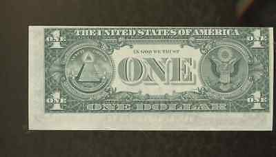1969 $ 1.00 One Dollar Bill Error Miscut Note  United States  E48846125C