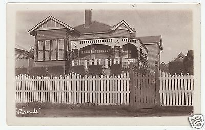 WINSCOMBE - A Large House - Message On Back - c1910s era Real Photo postcard