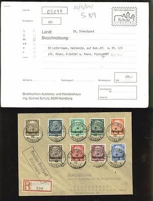 WWII: German Occupation of Lotharingia cover, old French cancels,  $$$!