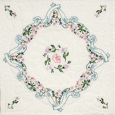 Stamped Quilt Blocks 18 Inch X 18 Inch 6/Pkg-Ribbon & Bows 725162953062