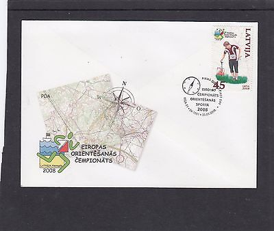 Latvia 2008 European Orientering Champs First Day Cover FDC Riga pictorial h/s