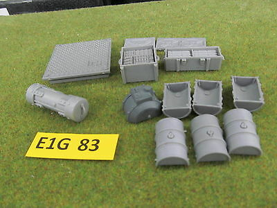 Warhammer 40K Battlefield Accessories Objective markers crates barrels Scenery d
