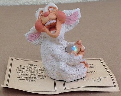 Krystonia POFFLES  dragon figurine statue World of Panton, England, laughing