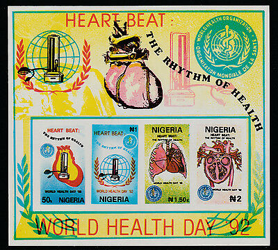 Nigeria (291) 1992 World Health Day m/sheet IMPERF unmounted mint