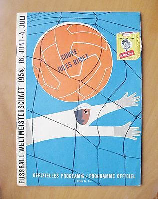 1954 World Cup AUSTRIA v URUGUAY 3rd/4th Play-Off *Exc Cond Football Programme*