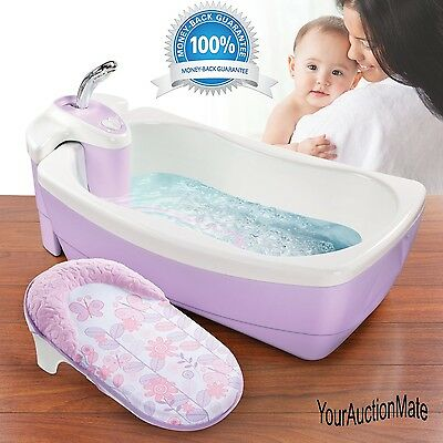 Lil' Luxuries Whirlpool Bubbling Bath Spa and Shower Tub Summer Infant Violet
