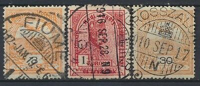No: 47366 - HUNGARY - LOT OF 3 OLD STAMPS - NICE CANCELS!
