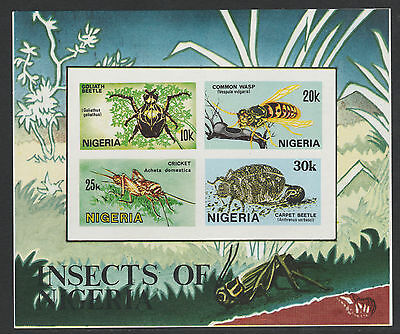 Nigeria (300) 1986 Insects  IMPERF m/sheet unmounted mint