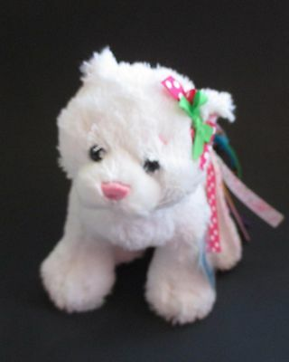 WB5 Pretty Kitty cat ribbon tail WEBKINZ PLUSH new code stuffed animal ganz