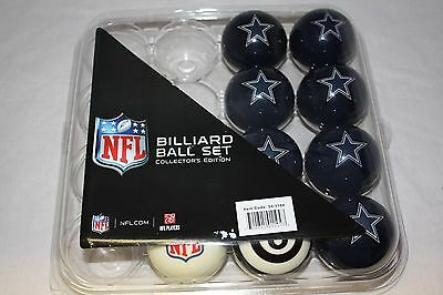 NEW Officially Licensed Dallas Cowboys Football Billiard Pool Cue Ball Half Set