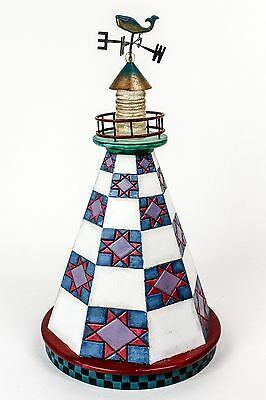 "Lighthouse Shorelights Star on the Shore Jim Shore 10"" Collectible Lighthouse"