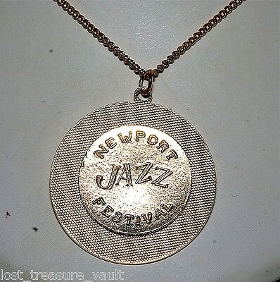 Vintage 1960's Newport Jazz Festival Necklace Jewelry
