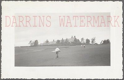 Vintage 1941 Snapshot Photo Golfing at Meadowbrook Golf Course 728927