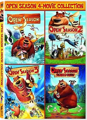 OPEN SEASON 4-MOVIE COLLECTION New Sealed DVD 1 2 3 4 Scared Silly