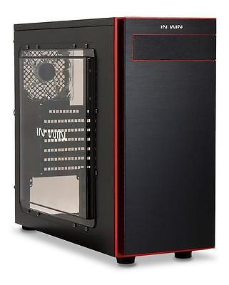 In Win 703 Midi Gaming PC Tower Case Transparent Acrylic Side Window Panel