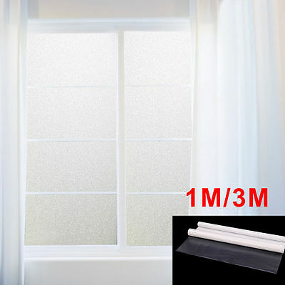 60x 300cm Self Adhesive Privacy White Frosted Window Door Film Frost Sticker PVC