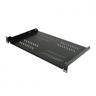 "Titan AV Vented 19"" 1RU Cantilever Rack Shelf 280mm Deep - Data Server Cabinet"