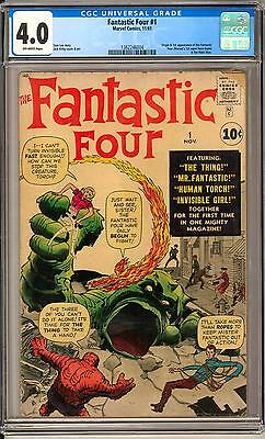 Fantastic Four #1 CGC 4.0 (OW) Origin & 1st Appearance Human Torch The Thing H