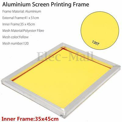 41x51cm A3 Aluminium Screen Printing Frame Stretched with 120T Silk Print Mesh