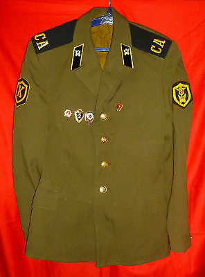 Russian Soviet Army Driver Soldier Parade Uniform Jacket USSR + Pins Size 48