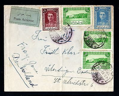 13933-PERSIA-AIRMAIL COVER TEHERAN to WERLINGEN (germany).1949.WWII.Aerien.