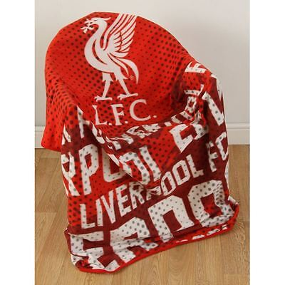 Liverpool Fc Impact Large Fleece Blanket New Football