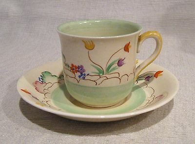 Set of 6 Clarice Cliff Demitasse Cups and Saucers