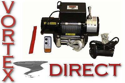 VORTEX 6000 LB Pound Recovery Winch Bonus Package JEEP FAST FREE SHIPPING