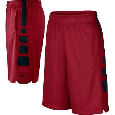 546649 673 Nike Boy's Elite Basketball Shorts Red / Black Size Large 14-16
