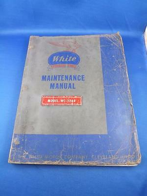 White Motor Company Truck Maintenance Manual Book Vintage Auto Model Wc-2264