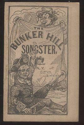 1850's BUNKER HILL SONGSTER w/NIGGER WORD IN LYRICS  34 Pages  New Condition