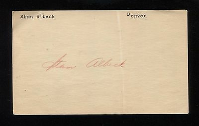 Stan Albeck Signed 3x5 Index Card Autographed Signature Basketball