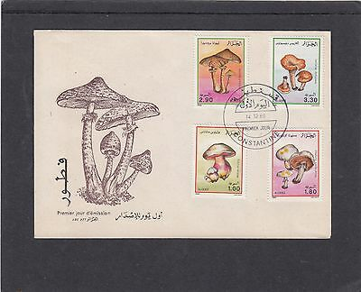 Algeria 1989 Fungi First day Cover FDC Alger fdi pmk