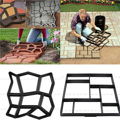 Garden DIY Plastic Path Walk Maker Model Road Paving Cement Mould Brick Stone UK